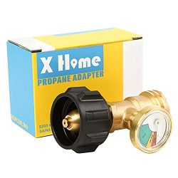 XHome Propane Gauge, Tank Gas Level Indicator Meter, Cylinder Gas Level Indicator Adapter Fit Al ...
