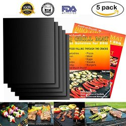 Grill Mat BBQ Tool Reusable for Gas Charcoal Electric Grill Deck Non-stick FDA Approved PFOA Fre ...