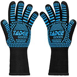 Oven Mitts Heat Resistant BBQ Gloves – Best Silicone Cooking & Grilling Accessories – Extrem ...