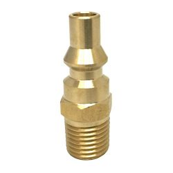 KIBOW Propane Quick Connect Fitting-Full Flow Male Plug with 1/4 Inch Male NPT Thread