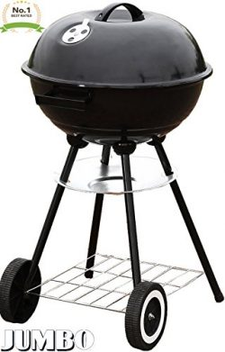 Unique Imports #1 Jumbo 22″ Charcoal Grill Outdoor Portable BBQ Grill Backyard Cooking Sta ...