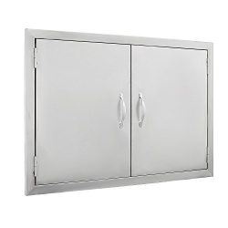 BestEquip Double BBQ Island 304 Stainless Door Double Access BBQ Door 30.5x21inch Double Door Fl ...