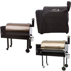 Traeger TFB65LZBC Grills Texas Elite 34 Wood Pellet Grill and Smoker (Bronze), with Full Length  ...