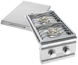 Summerset Grills Trl Double Side Burner With Led Lights Trlsb2 Natural Gas