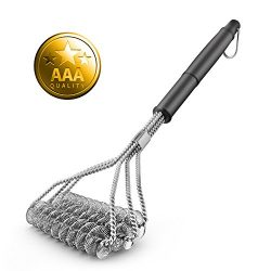 Barbecue Grill Brush – Cleaning Scraper 100% Safe Bristle Free Grillers – Best BBQ G ...