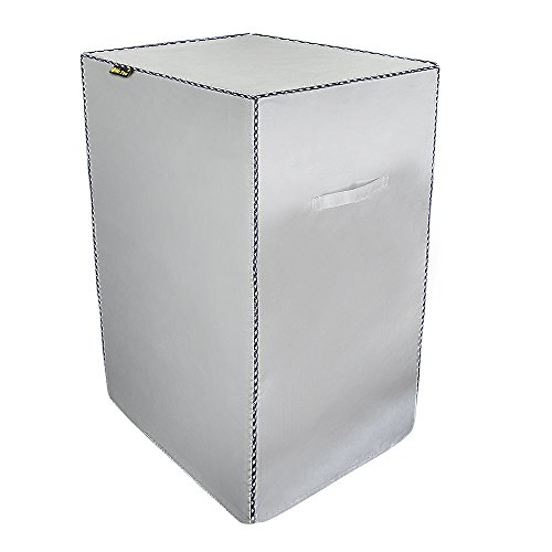 Mr.You Special silver coating material Smoker Cover.Square Grill Cover.Waterproof Heat insulatio ...
