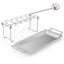 Chicken Wing & Leg Rack For Grill Smoker or Oven – Stainless Steel Vertical Roaster St ...