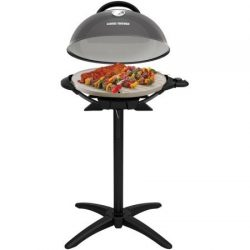 George Foreman PRO Indoor / Outdoor Grill , 240 Sq In, Ceramic Plates, Temp Gauge, GFO3320GM  ...