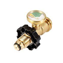 Kbrotech Propane Tank Gauge Gas Leak Detector POL to QCC1/Type Convert Propane Tank Cylinders Ga ...