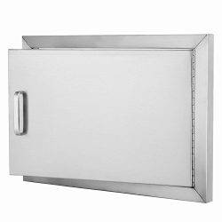 Z-bond 20″Wx 14″H BBQ Access Door 304 Stainless Steel BBQ Island Door Heavy Duty Sin ...