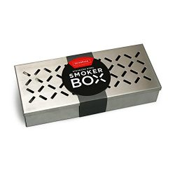 BBQ Smoker Box for Charcoal and Propane Gas Grill – Even THICKER Stainless Steel Wood Chip ...