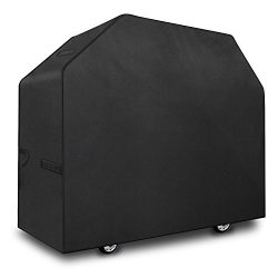 FYLINA Grill Cover, 58-Inch Waterproof BBQ Cover 600D Heavy Duty Gas Grill Covers for Weber, Hol ...