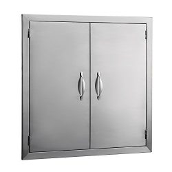 BestEquip Double BBQ Island 304 Stainless Door Double Access BBQ Door 24x24inch Double Door Flus ...