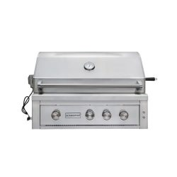 EdgeStar GRL360IBBNG 89000 BTU 36 Inch Wide Natural Gas Built-In Grill with Rotisserie and LED L ...