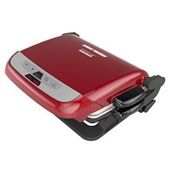 George Foreman 5-Serving Multi-Plate Evolve Grill System with Ceramic Plates and Waffle Plates,  ...