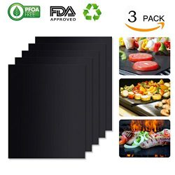 DOLDOA Non-Stick BBQ Grill Mat,Baking Mats,FDA Approved,Reusable,Heat Resistant,Durable,Easy to  ...