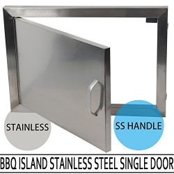 MOPHOTO BBQ Access Door – Single Wall BBQ Access Door Cutout 20″ Width x 14″ H ...