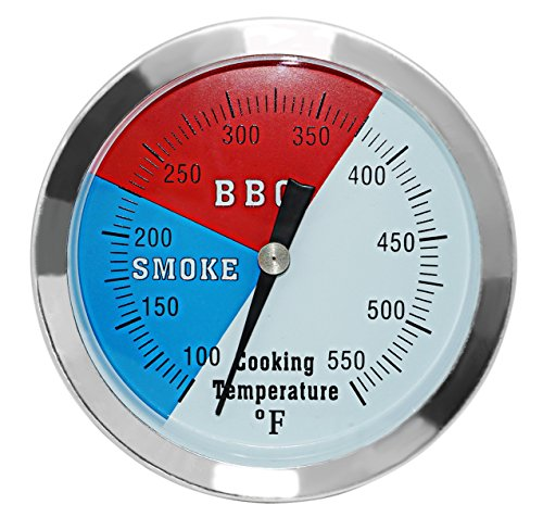 DozyAnt 3 1/8″ Larger Face 550F BBQ Barbecue Charcoal Grill Pit Wood Smoker Temp Gauge Gri ...