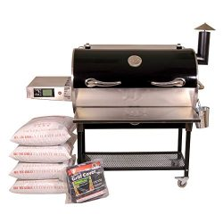 REC TEC Grills Bull | RT-700 | Bundle | Wifi Enabled | Portable Wood Pellet Grill | Built in Mea ...