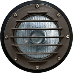 Dabmar Lighting DW4701-BZ Med Well Light with grill and Sleeve For PAR38, Bronze Finish
