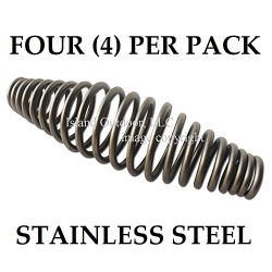 FOUR of 5″ STAINLESS steel SPRING HANDLE BBQ smoker grill pit wood furnace stove