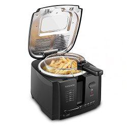 Flexzion Deep Fryer with Basket – Home Electric Deep Fat Fryer Cooker w/ 2 Liter Food Oil  ...