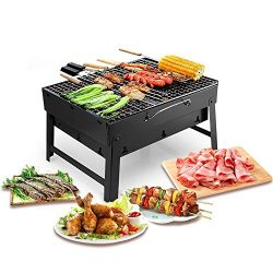 Portable Lightweight Simple Charcoal Grill Perfect Foldable BBQ Grill for Outdoor Campers Barbec ...
