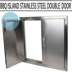 MOPHOTO BBQ Access Door – Double Wall BBQ Access Door Cutout 24″ Width x 24″ H ...