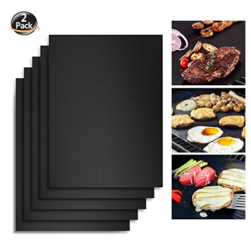 Angganquzu  BBQ Grill Mat,Non-stick Barbecue Mat, Reusable and Easy to Clean,BBQ Accessories for ...