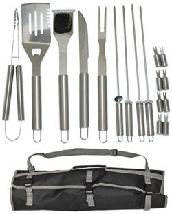 17 Piece Stainless Steel BBQ Grill Set – Barbecue Accessories Grilling Kit Set – by  ...
