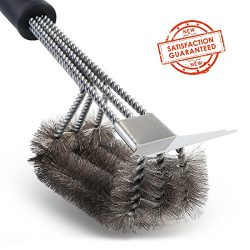 Grill Brush and Scraper Tapbole Best BBQ Brush Cleaner, Safe 18″ Stainless Steel Woven Wir ...