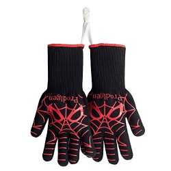 Prodigen BBQ Grilling Gloves – Oven Gloves Heat Resistant Cooking Mitts – Fireplace  ...
