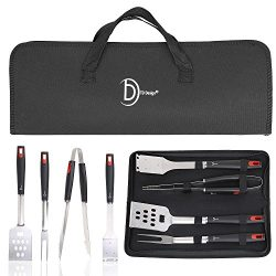 TD Design BBQ Grill Set with 4 Barbecue Accessories-Grilling Utensils,Grill Spatula, Barbecue To ...