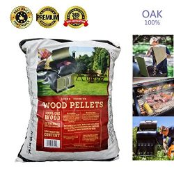 Z GRILLS Premium BBQ Wood Pellets for Grilling Smoking Cooking OAK Hardwood Pellets,20LB Per Bag ...