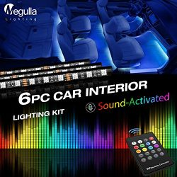Underdash Lighting Kit, Megulla Smart RGB Multi-Color LED 6PC Car Interior Lighting Kits with So ...