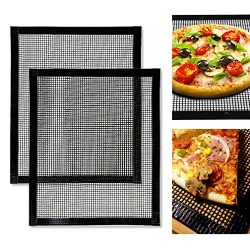 BBQ Grill Mat- Non Stick BBQ Grilling Mats- Heat Resistant, Heavy Duty, Durable, Reusable, and E ...