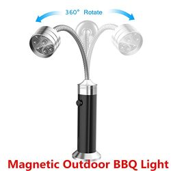 Outdoor BBQ Grill Light ONBET LED Battery Operated Magnetic Barbecue Light with 360° Rotation Ne ...
