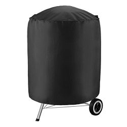 UNICOOK Heavy Duty Waterproof Kettle Grill Cover, 23″ Dia by 25″ H Smoker Cover, Cha ...