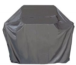 i COVER Grill Cover- 65 Inch Heavy Duty Water Proof Patio Outdoor Black BBQ Barbecue Smoker/Gril ...