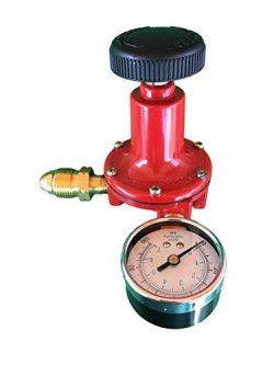 Propane LP Gas Adjustable 0 – 100psi High Pressure Regulator POL Connector and Gauge Marsh ...