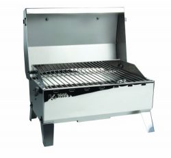 Kuuma Premium Stainless Steel Mountable Gas Grill w/ Regulator by Camco -Compact Portable Size P ...