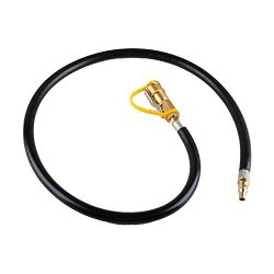 "RV Propane Hose Quick Connect Disconnect Natural Gas Hose Assembly, 39 Inch – 1/4"" Safety  ..."