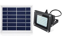 Solar Flood Light Outdoor,JPLSK 54Leds 400Lumen IP65 Waterproof Outdoor Flood Light Fixture for  ...