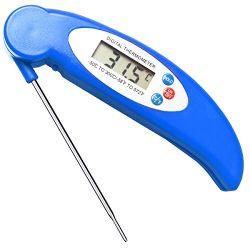 GET Waterproof Meat Thermometer Digital Super Fast Instant Read Thermometer BBQ Thermometer with ...