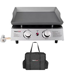 Royal Gourmet Portable 2 Burner Propane Gas Grill Griddle Pd1201 ( Griddle + Cover)
