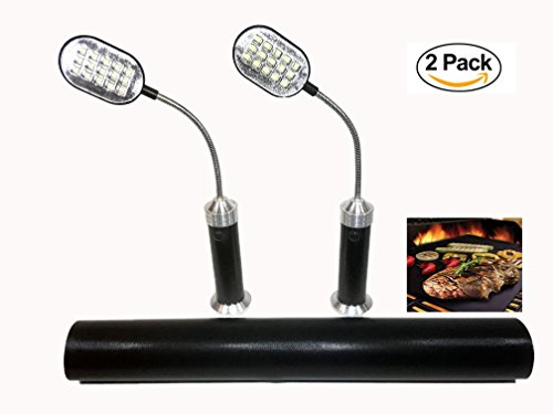 CHS Magnetic LED Barbecue BBQ Grill Light Set- Weather Resistant Outdoor Grill Lights with 15 Su ...