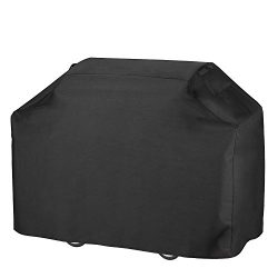 Grill Cover, Heavy Duty 600D Oxford Waterproof Gas Grill Cover with Double Stitching & Heat  ...