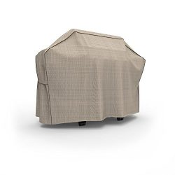 Budge English Garden Heavy Duty Waterproof BBQ Grill Cover Fits Grills 65″ Wide, Tan Tweed