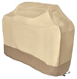 Grill Cover – garden home Up to 58″ Wide, Water Resistant, Air Vents, Padded Handles ...