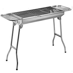 Fold Barbecue Charcoal Grill Stove Stainless Steel Portable Folding Charcoal BBQ Grill